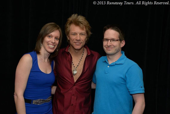Marie-Hélène Cyr, Jon Bon Jovi and Martin in Las Vegas, NV, USA (April 20, 2013)