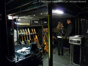 Second backstage tour before the Bon Jovi show at the Bell Centre, Quebec, Canada (February 14, 2013)