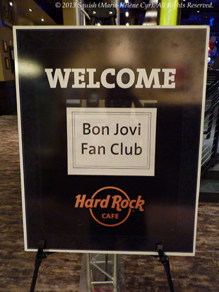 Fan club trip welcome party at the Hard Rock Cafe in Las Vegas, NV, USA (April 19, 2013)