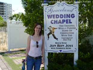 The Graceland Wedding Chapel where Jon Bon Jovi got married in 1989