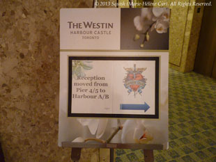 Welcome party of the fan club trip at the Westin Harbour Castle in Toronto, Ontario, Canada (October 31, 2013)