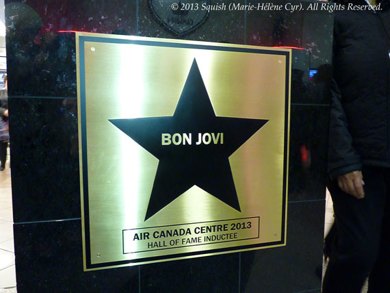 Bon Jovi's star at the Air Canada Centre hall of fame in Toronto, Ontario, Canada (November 2, 2013)