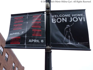 Bienvenue à Bon Jovi au Prudential Center, Newark, New Jersey, États-Unis (7 avril 2018)