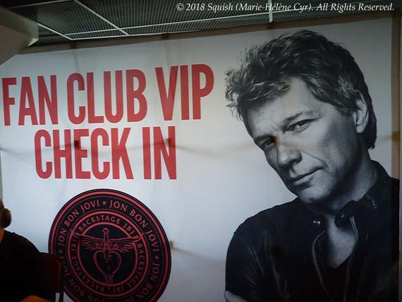 Backstage With Jon Bon Jovi VIP party banner in Montreal, Quebec, Canada (May 17, 2018)