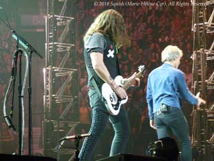Phil X still has his X on his vest on the right during the Bon Jovi show in Montreal, Quebec, Canada (May 18, 2018)