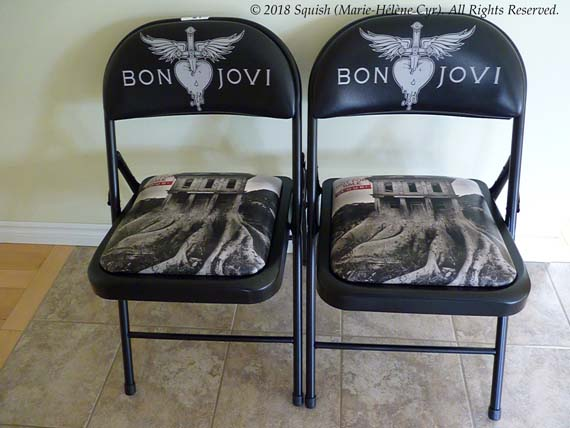 VIP chairs from the Bon Jovi show in Montreal, Quebec, Canada (May 17, 2018)