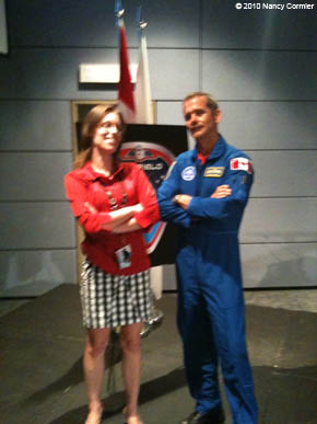 Marie-Hélène Cyr and Chris Hadfield