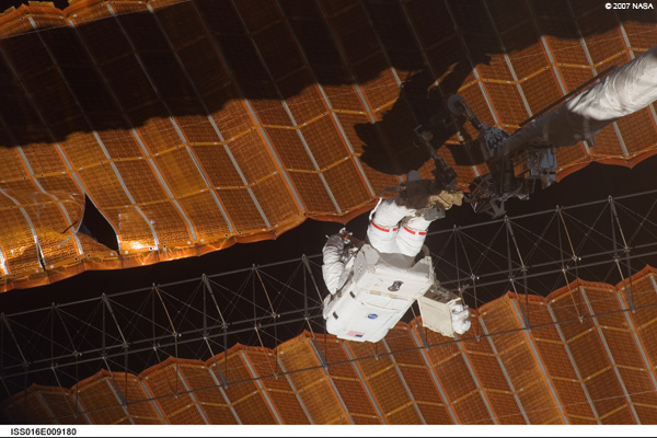 Scott Parazynski - STS-120 mission to the International Space Station to repair solar array (November 3, 2007)
